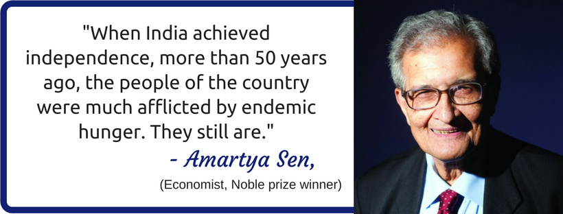 Amartya Sen about hunger in India