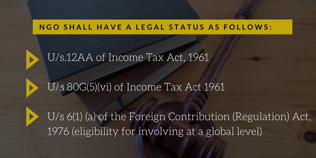 NGO SHALL HAVE A LEGAL STATUS AS FOLLOWS_