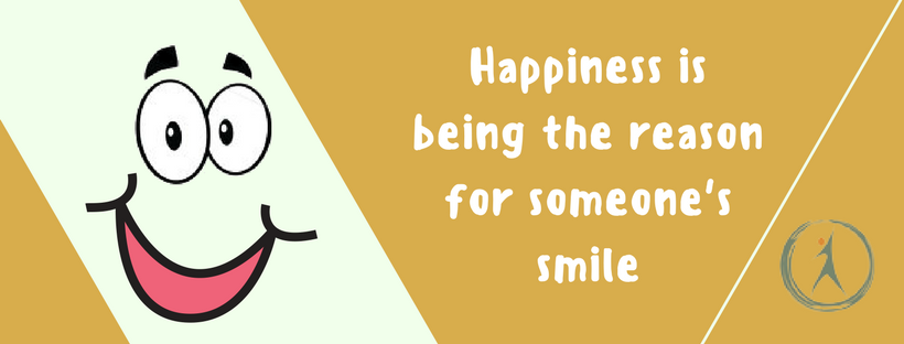 Happiness is being the reason for someone's smile