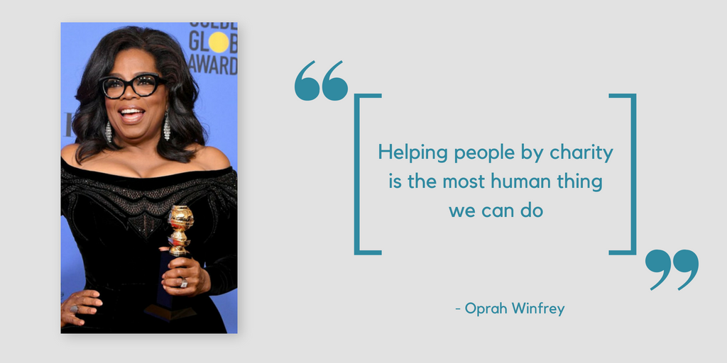 Quotes about Charity by Oprah Winfrey