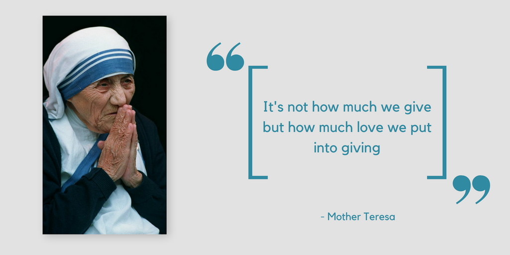Quotes about Charity by Mother Teresa
