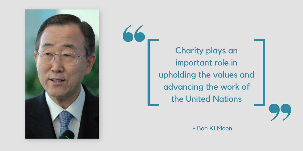 Quotes about charity by Ban Ki Moon