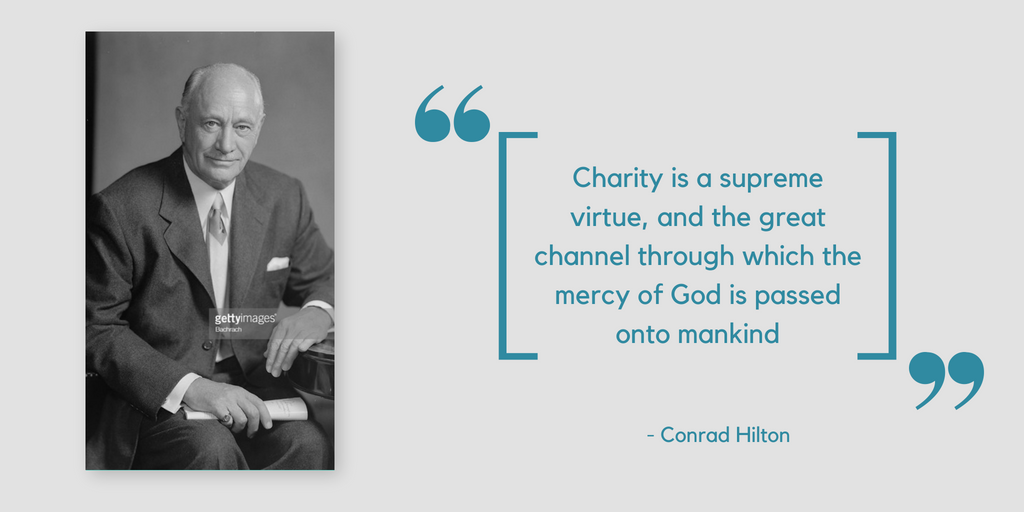 Quotes about Charity by Conrad Hilton