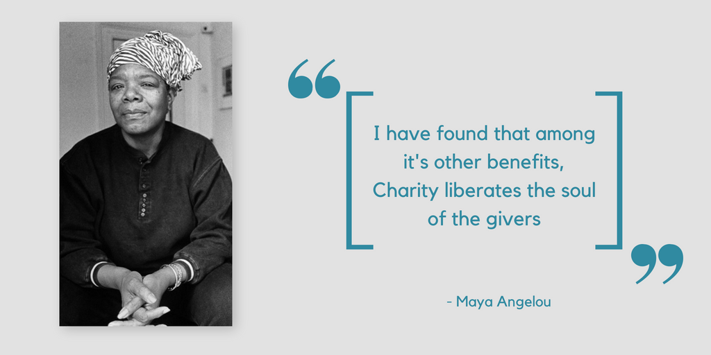Quotes about charity by Maya Angelou