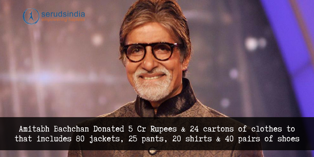 Amitabh Bachchan Donated 5 Crores and a Plenty of Personal Clothes to Kerala Relief Fund