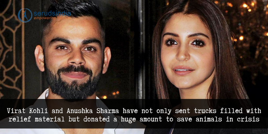 Virat Kohli and Anushka Sharma sent Trucks filled with Relief material for the people
