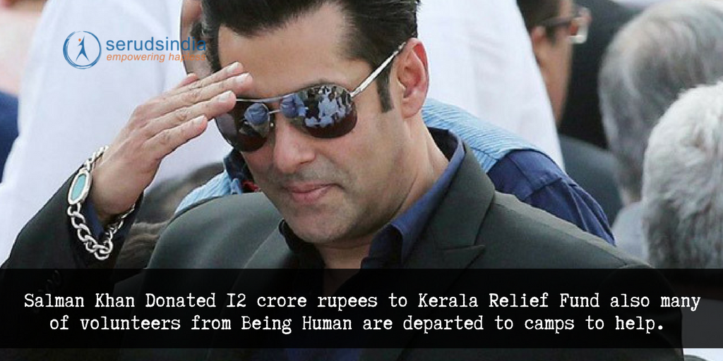 Salman Khan Donated 12 Crore Rupees and Being Human Team is in Camps Helping the Needy