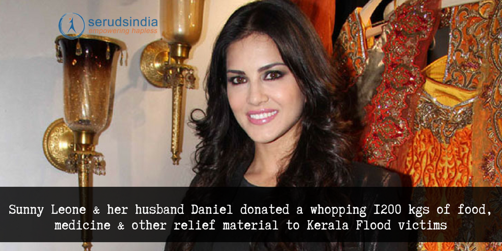 Sunny Leone Donated 1200 kgs of Food to the Kerala Relief Fund