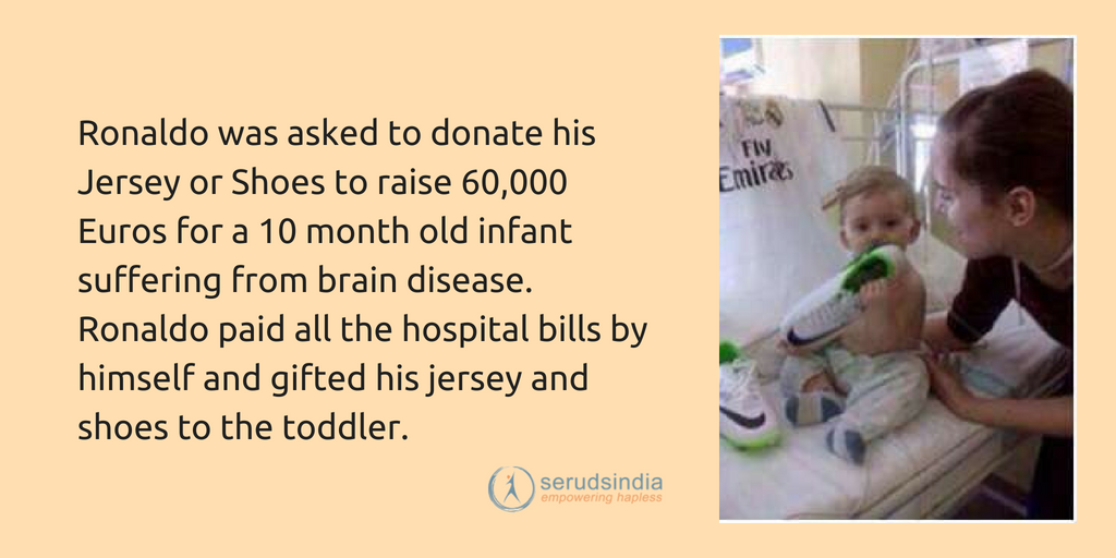 Cristiano Ronaldo's Charity for 10 Yr old