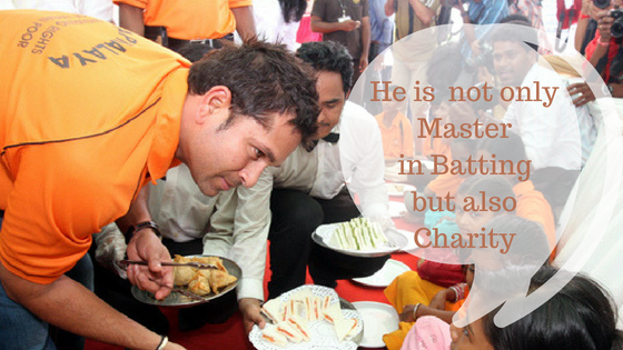 Charity Work by Sachin Tendulkar