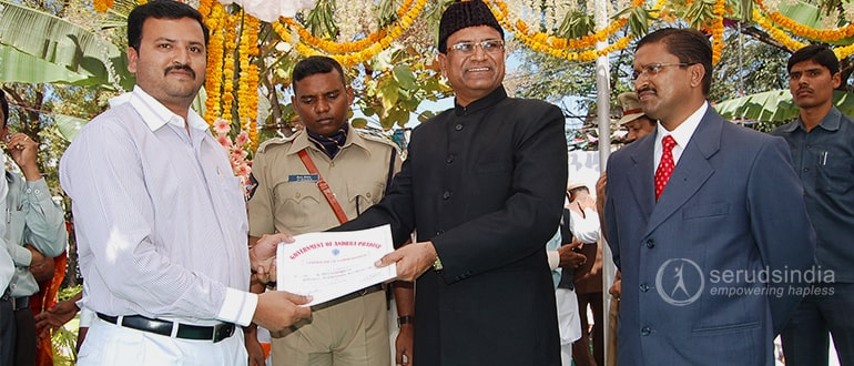 Commendation Certificate recieved from District Collector 26-1-2011