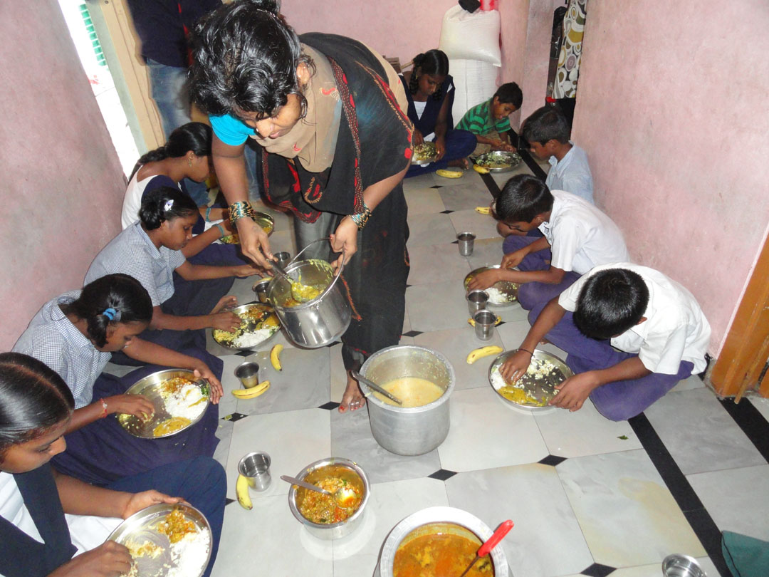 Sponsor mid-day meals for children in daycare centers by SERUDS NGO in Kurnool. we support 80 children, between the age of 1 year to 6 years, from slums and villages around Kurnool district in three creche or day care centers.