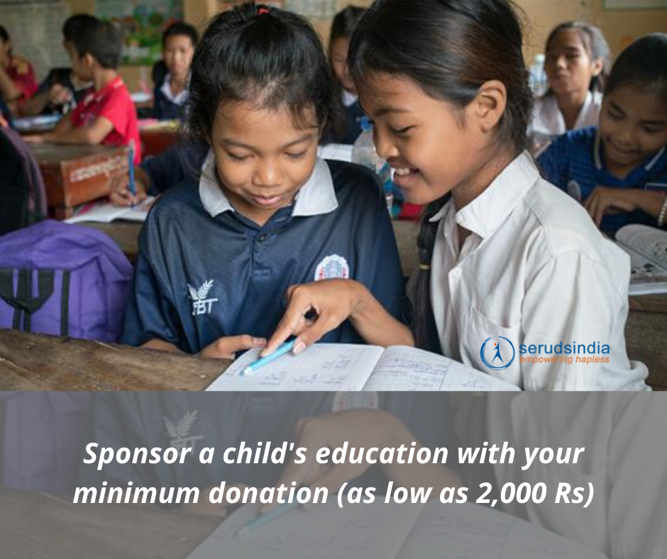 Charity For Education in India for Rs 2000