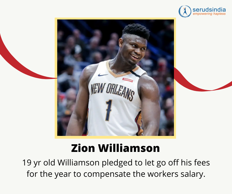 Zion Williamson Donations for Coronavirus