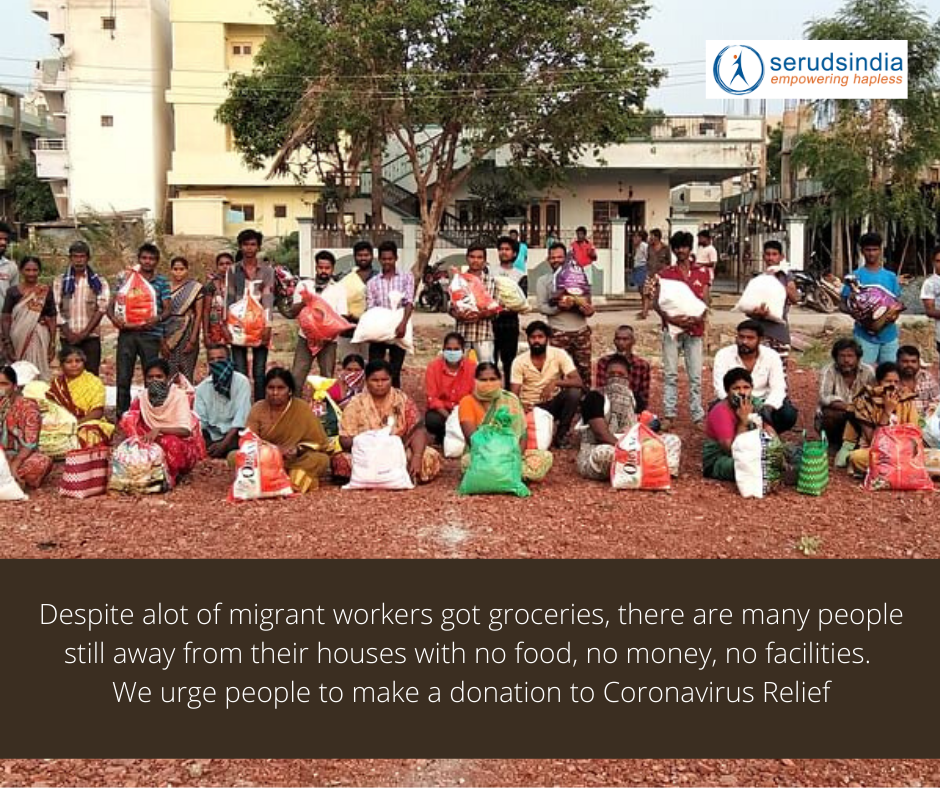 Despite alot of migrant workers got groceries, there are many people still away from their houses with no food, no money, no facilities. We urge people to make a donation to Coronavirus Relief