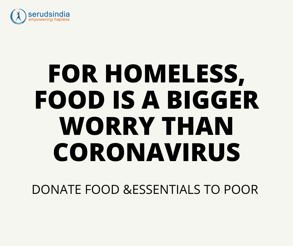 FOR HOMELESS, FOOD IS A BIGGER WORRY THAN CORONAVIRUS