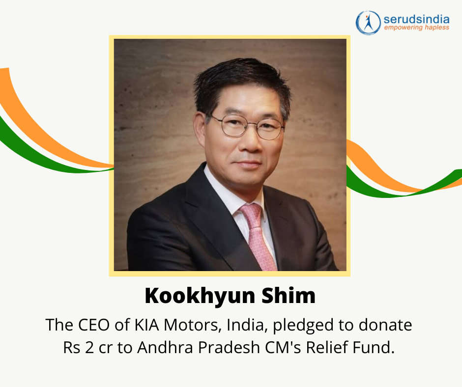 Kookhyun Shim- Indian Celebrity Donations for Coronavirus Charity Relief Funds