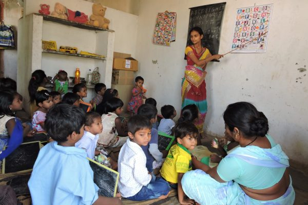 SERUDS day care centers for poor children in Kurnool. Teacher for preschool education. You can Children in Crèche for education, living expenses, toys