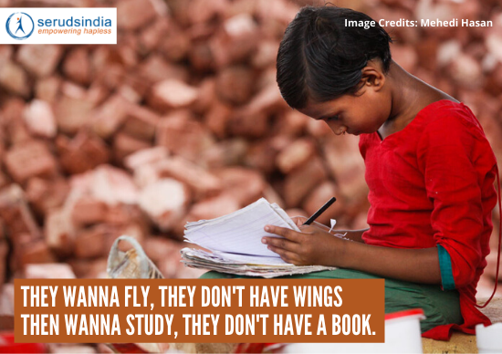 They wanna fly, they don't have wings Then wanna study, they don't have a book.