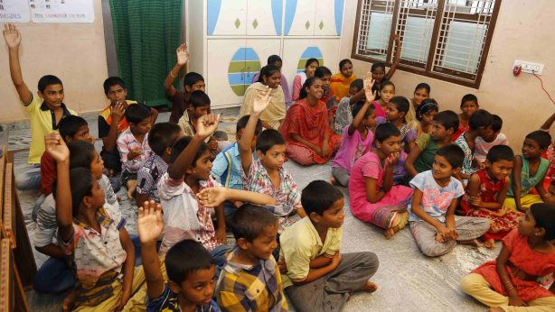 SERUDS Children's Home in Kurnool shelters 60 boys and girls. These are kids are Abandoned children, or Children whose both parents are dead and no relative can provide for them or street Children who had taken to rag-picking, begging