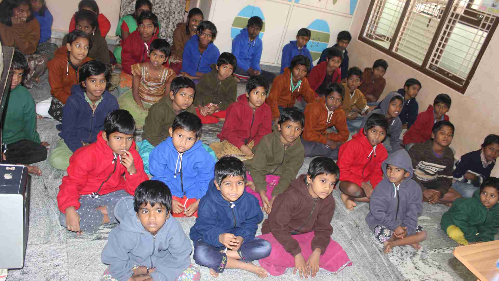 Children in SERUDS Joy Home in Kurnool. You are welcome to sponsor these abandoned orphan children for their education or living expenses.