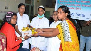 Distribution of Fruits and Milk for Patients in Hospitals