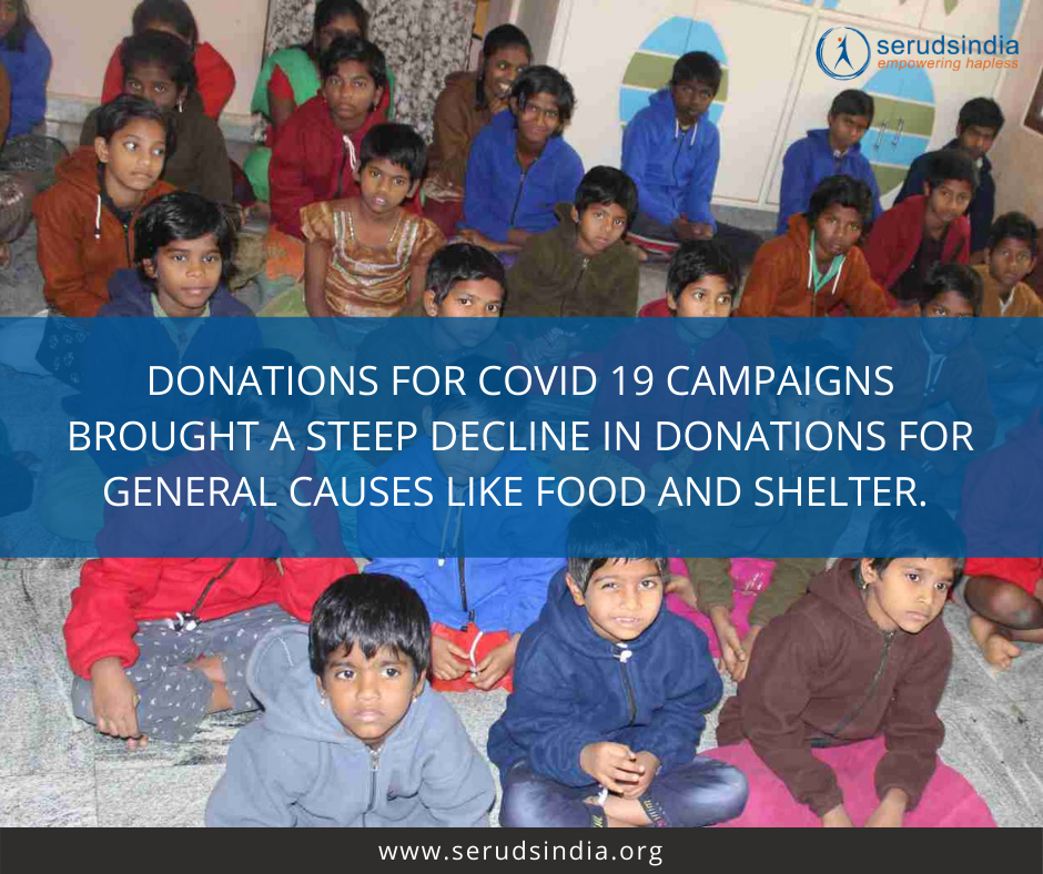 Donations for COVID 19 campaigns brought a steep decline in donations for general causes like food and shelter.