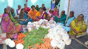 Grocery Distribution for Poor Elders at SERUDS Happy Old Age Home