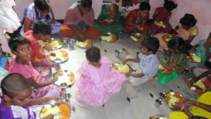Midday meals provided to poor children at SERUDS Orphanage