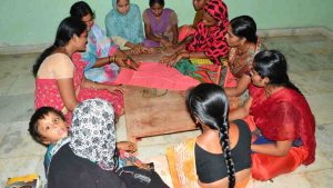 Pattern cutting skill training for destitute women