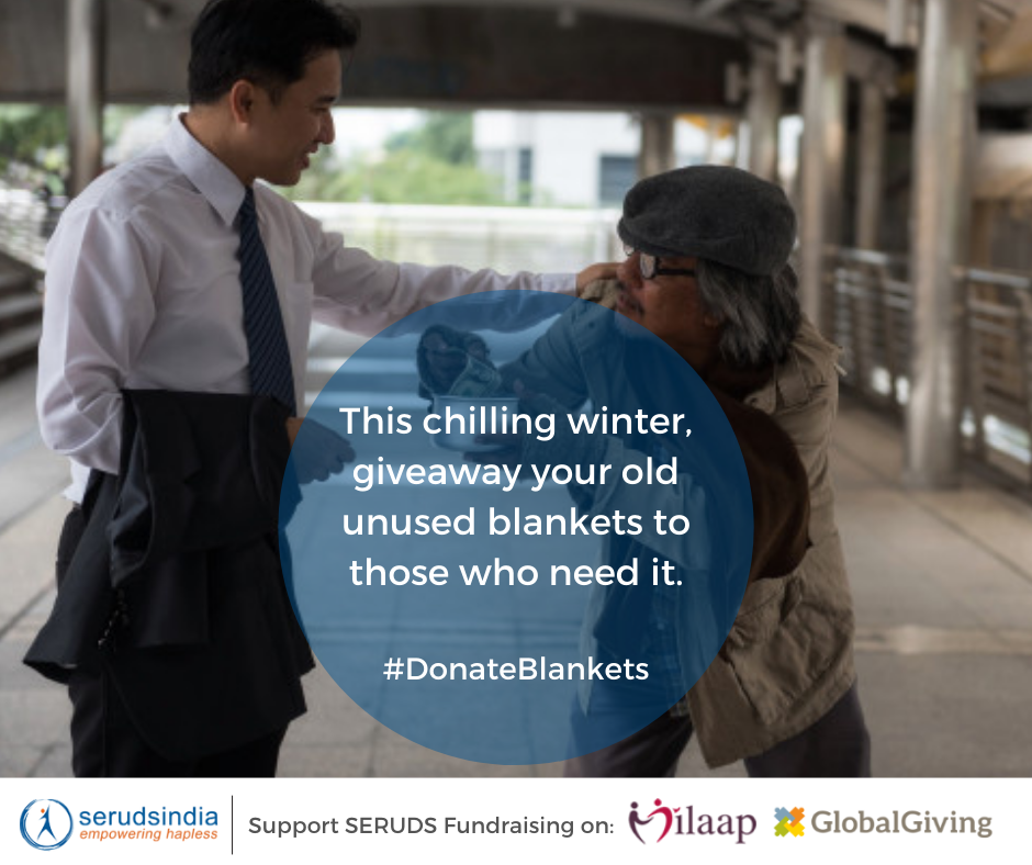 This chilling winter, giveaway your old unused blankets to those who need it. #DonateBlankets