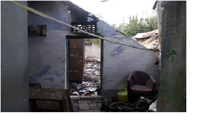 Sheikh Ramijabi house which was destroyed by fire