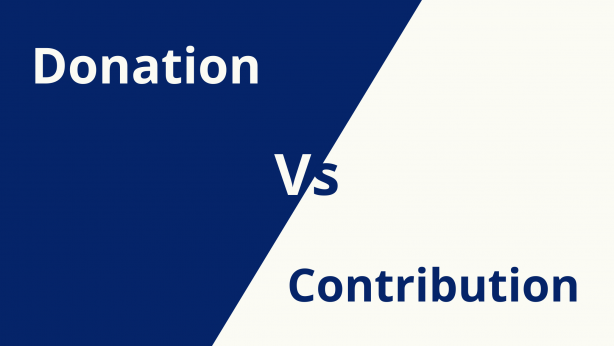 What Is The Difference Between A Donation And A Contribution